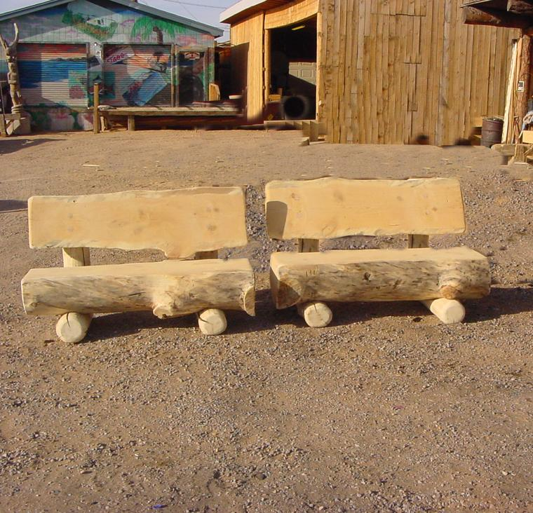Woodworking plans and simple project choice jack bench plans for Homemade log bench